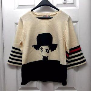 ⚡️Rare ⚡️Vintage Pronto Charlie Chaplin Sweater
